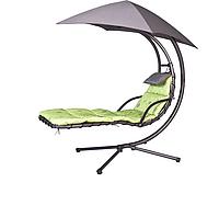 Одноместные садовые качели с зонтом
