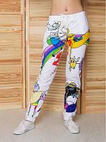 Подростковые брюки Время приключений с 3D-принтом для девочки