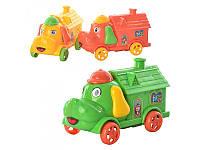 Машинка 2088 инер-я, в виде собачки с домиком, 3 цвета, в кульке, 11-6,5-5,5см
