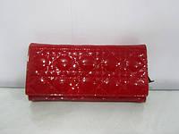 Кожаный женский кошелек (красный , черный)