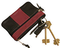 Ключница кожаная с карманчиком на молнии