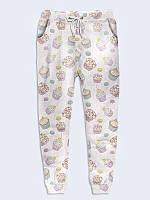 """Подростковые брюки """" Белые кексы"""" с 3D-принтом для девочки"""