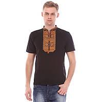 Мужская трикотажная вышиванка, национальная одежда