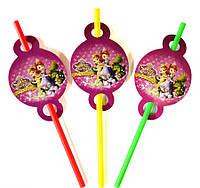 Трубочки для напитков Принцесса София 8 штук