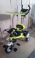 Велосипед 3-х колесный Mars Trike надувные колеса (салатовый)