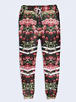 """Подростковые брюки """"Розы Спорт"""" с 3D-принтом для девочки"""