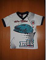 Летняя футболка для мальчика рост:104-116-122-128