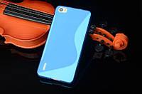 Силиконовый чехол Duotone для Huawei Honor 6 голубой