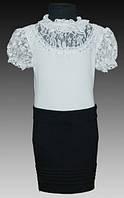 Блузка  нарядная для девочек рост 122-164 см (7-14 лет)S927