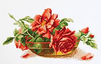 """Набор для вышивки крестом """"Розы в вазе"""""""