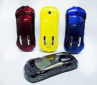 Телефон-машинка Bugatti C618, 2 SIM,металлическая!