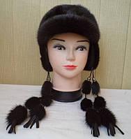 """Женская зимняя шапка """"Норка Жакейка с ушками"""""""