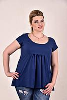Женская летняя блуза-туника больших размеров (рр 42-74) модной расцветки