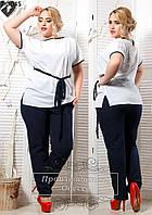 Женский летний костюм с брюками 48-58