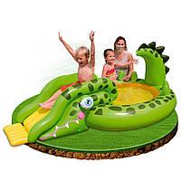 Игровой центр с горкой и душем - Крокодил Intex 57132