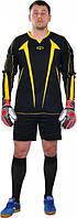 Футбольная вратарская форма Europaw (Черно-желтая) с шортами