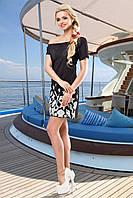 Модное Черное Платье на Одно Плечо с Морскими Мотивами S-XL