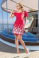 Модное Красное Платье на Одно Плечо с Морскими Мотивами S-XL