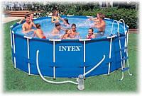 28236 (54946) бассейн каркасный 457*122см с фильтр.насосом и аксес./1 Интекс