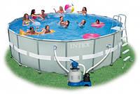 28332 бассейн каркасный+насос-фильтр 549*132см /1/ Интекс