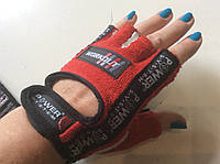 Перчатки для велоспорта, фитнеса WORKOUT без пальцев р. XS, S, M, L