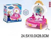 """Туалетный столик """"Frozen"""" 80852-2 (1446806) батар,свет,звук,зеркало,фен,аксесс,в кор. 25*10*28см823"""