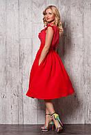 Шикарный летний костюм в красном цвете изысканная шифоновая блуза и юбка