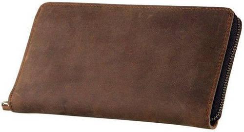 Стильный мужской кожаный клатч S.J.D. 8050B, коричневый