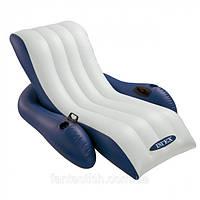 Надувной кресло-шезлонг Intex Comfy Cool Lounge для плавания 180*135*68 см.