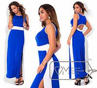 Длинное летнее платье из вискозы в больших размерах (в расцветках) k-1515655