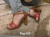 Стильные модные босоножки на каблуке , коричневые