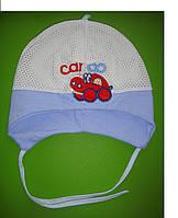 Летняя шапочка для мальчика размер: 42-44