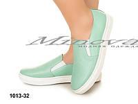 Модные женские туфли с натуральной кожи  нежных расцветок