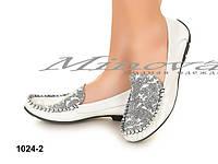 Очаровательные женские туфли-мокасины с натуральной кожи  визерунок