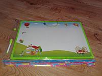 Доска для рисования магнитом,детская доска магнитная с азбукой купить