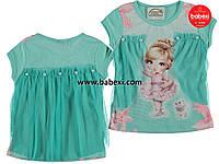 Нарядная футболка-туника Балерина для девочки 1,2,3,4 года 49947