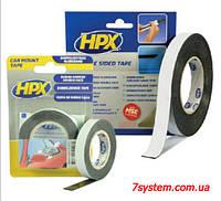 Двухсторонняя клейкая лента HPX для бокового молдинга, 9,0 мм x 1,0 мм, рулон 10 м, черный
