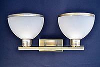 Бра настенная на две лампочки.      бра P3 - 11290/2w (AB+WT)