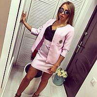 """Модный, женский костюм  """"Пиджак: рукава три четверти, юбка: мини с завышенной талией"""""""