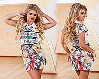 Яркое мини платье поло 308 (3265)