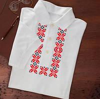 Украинская мужская футболка с вышивкой крестиком