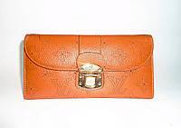 Женский кошелек коричневый кожаный LOUIS VUITTON