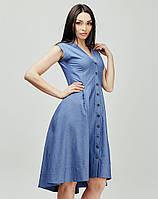 Оригинальное по кроя летнее платье