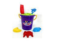 П KinderWay Песочный набор 01-107 ведерко, пасочки, лопатка