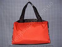 Cумка 114106 красная с черным женская спортивная из полиэстера с перфорацией размер 40 см х 26 см х 17 см