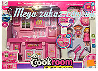 """Игровой набор """"Детская кухня"""" для кукол 24х28х10см: музыка/свет + продукты + посуда"""