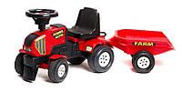 Детский трактор-каталка Falk Power Master 1013В с прицепом
