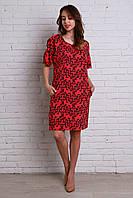 Нарядное платье с абстрактным рисунком