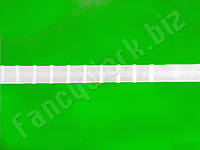 Тесьма для штор (шторная лента), 2 см., 100 м., равномерная карандашная.