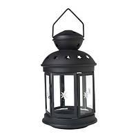 """Фонарь для свечи """"РОТЕРА"""" черный, 38 см"""